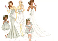 Illustration from Erica Garcia's Senior Bridal Collection